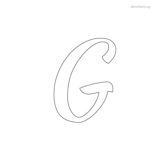 Brush Stencil Outline G