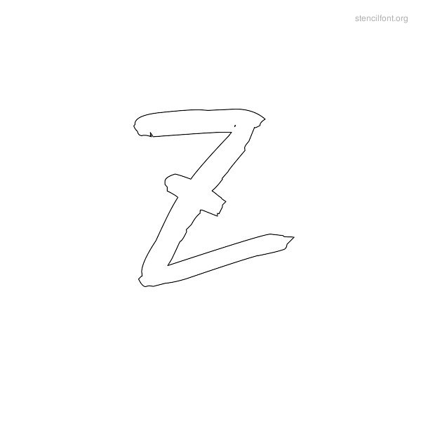 Graffiti Stencil Outline Z