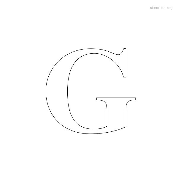 Greek Stencil Outline G