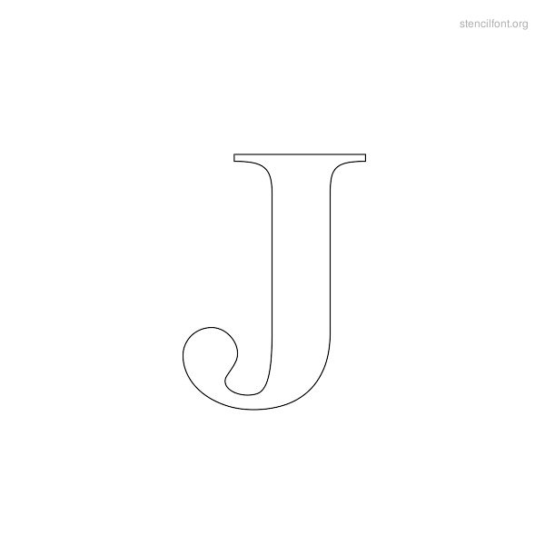 Greek Stencil Outline J