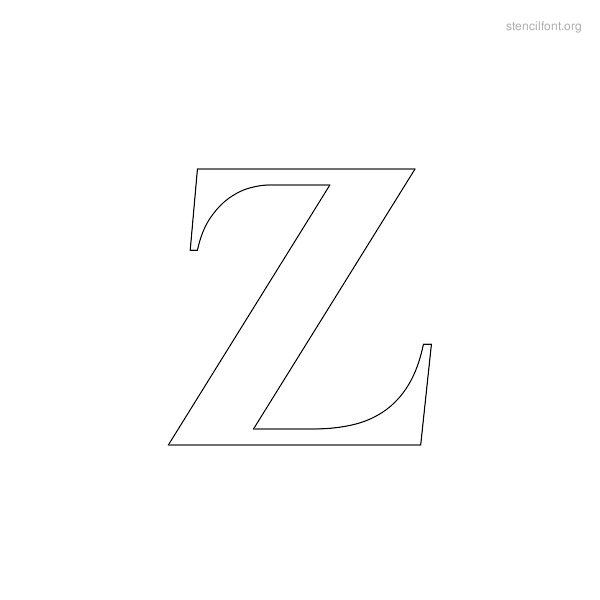 Greek Stencil Outline Z