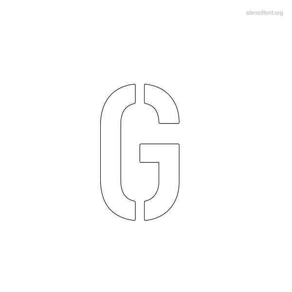 Military Stencil Outline G
