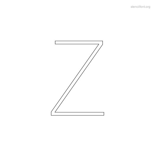 Narrow Stencil Outline Z