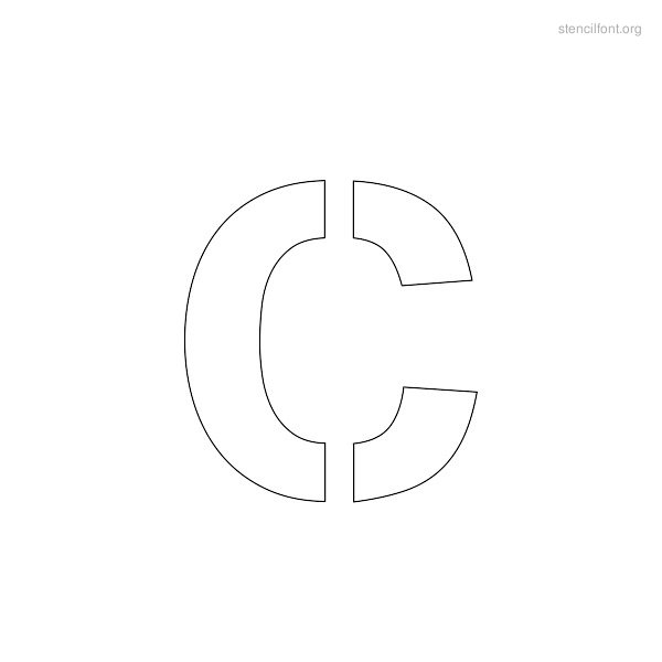Regular Stencil Outline C