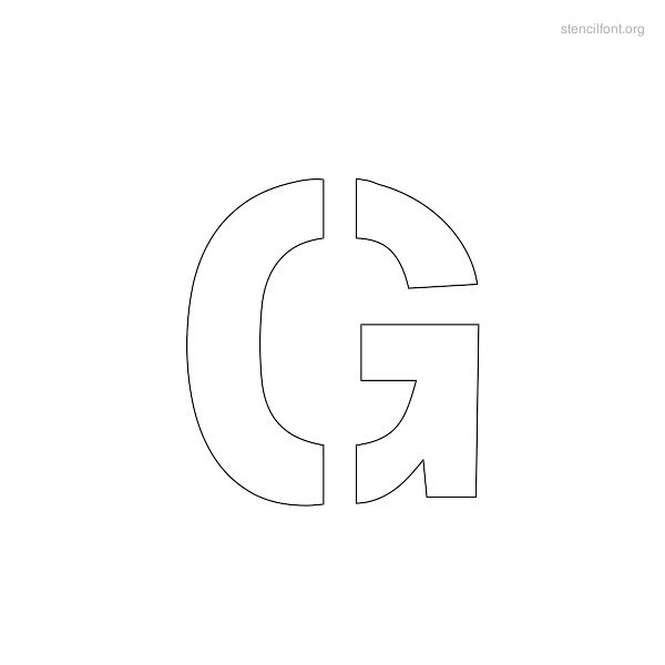 Regular Stencil Outline G