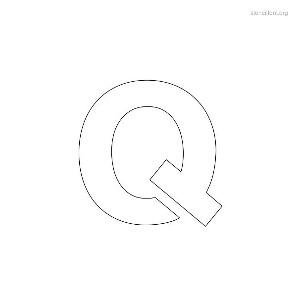 Regular Stencil Outline Q