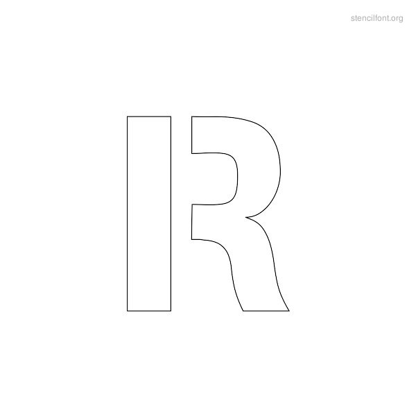 Regular Stencil Outline R