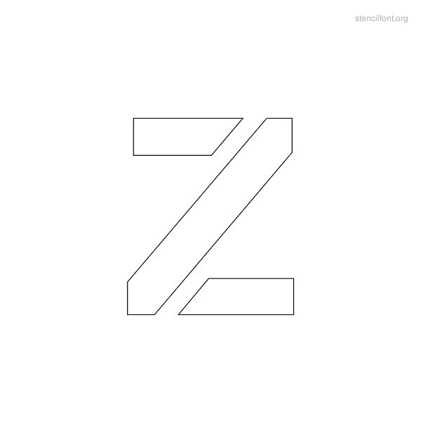 Regular Stencil Outline Z