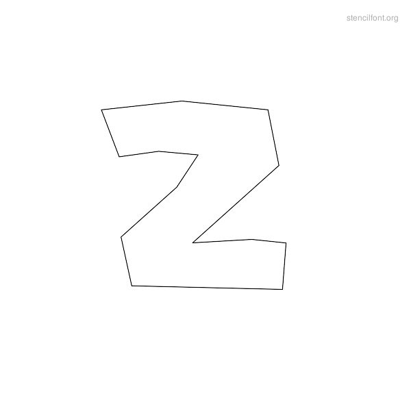 Rough Stencil Outline Z