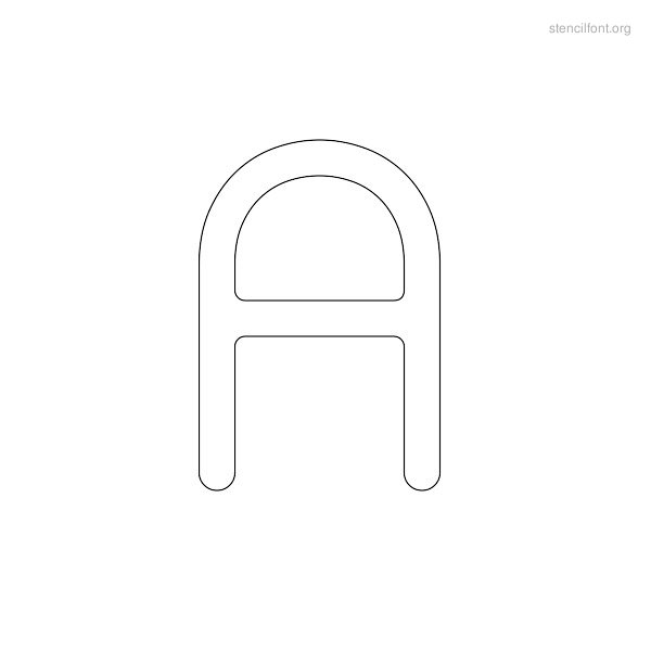 Rounded Stencil Outline