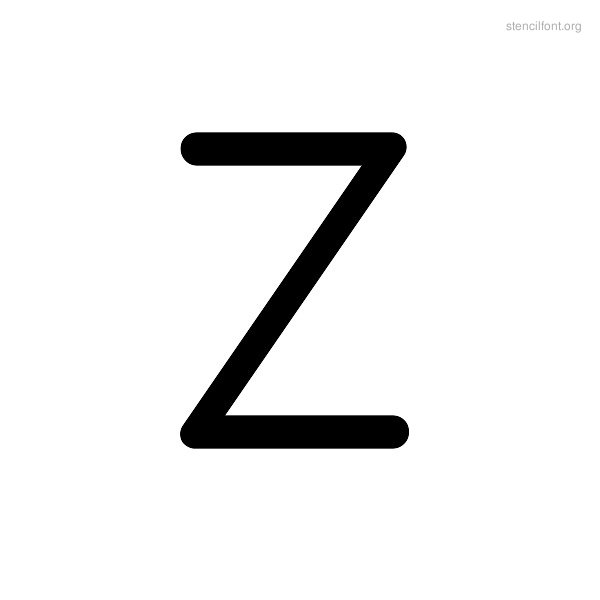 Rounded Stencil Z