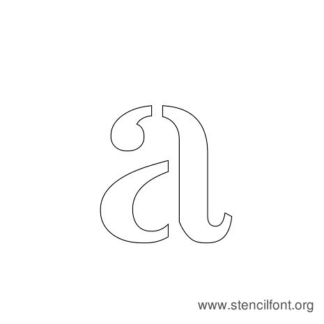 Stardos Stencil Lowercase Letter A