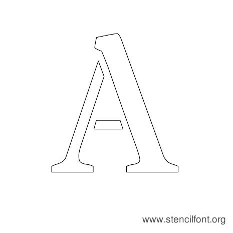Stardos Stencil Uppercase Letter A