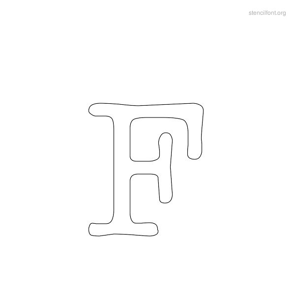 Typewriter Stencil Outline F