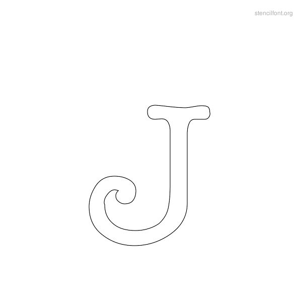 Typewriter Stencil Outline J