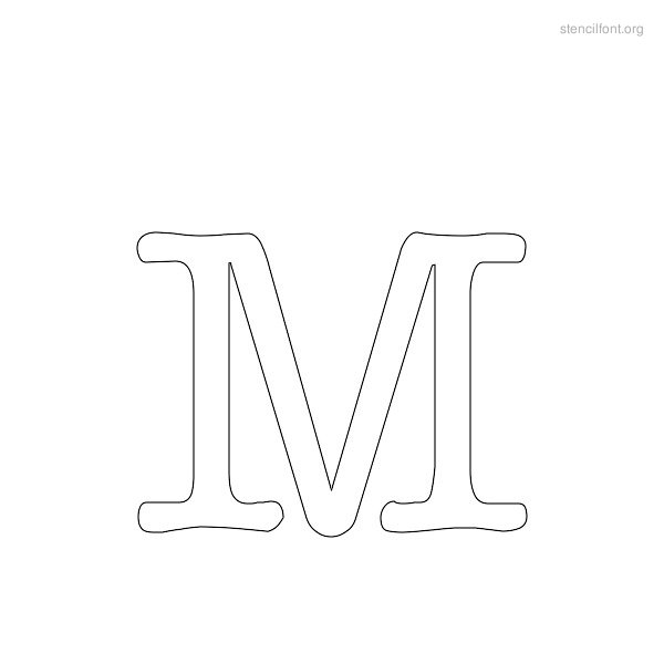 Typewriter Stencil Outline M