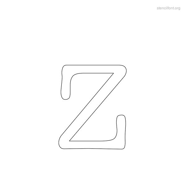 Typewriter Stencil Outline Z