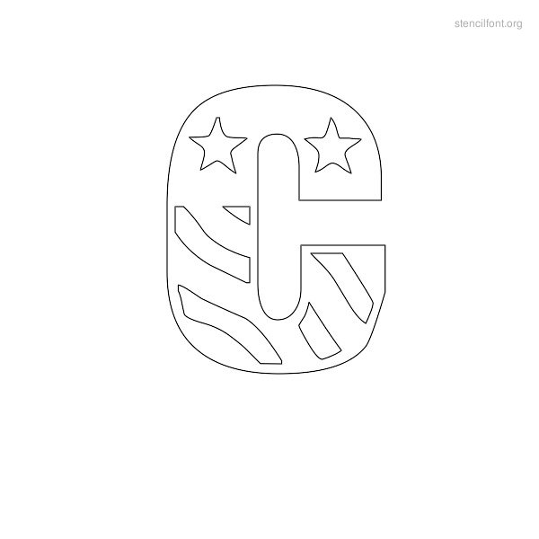 USA Styles Stencil Outline C