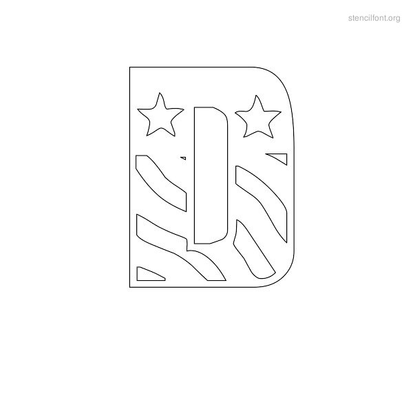 USA Styles Stencil Outline D