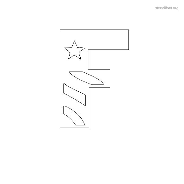 USA Styles Stencil Outline F