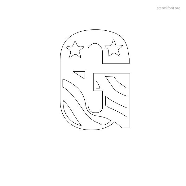 USA Styles Stencil Outline G
