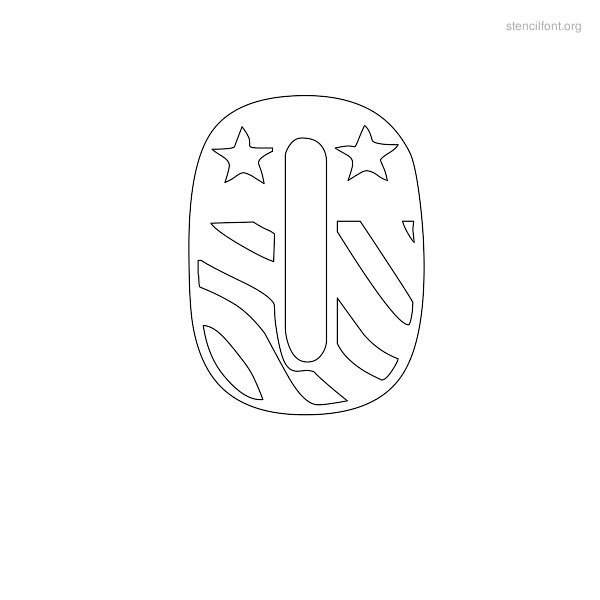 USA Styles Stencil Outline O