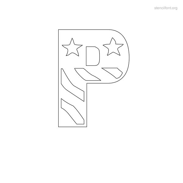 USA Styles Stencil Outline P