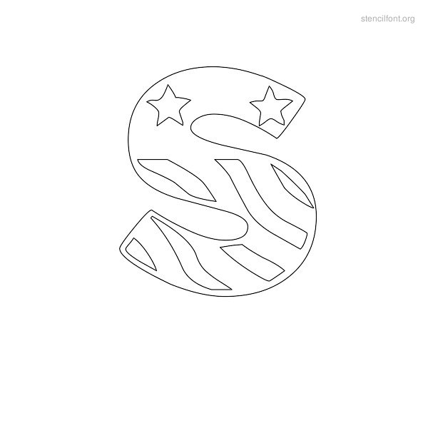 USA Styles Stencil Outline S